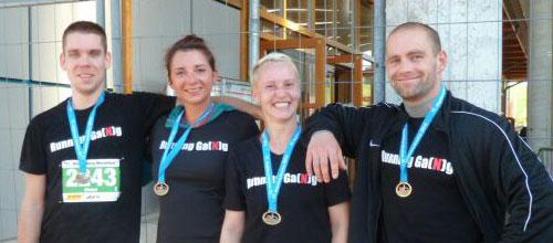 Unsere Laufgruppe war beim 11. Magdeburg-Marathon und beim SportScheck-Nachtlauf