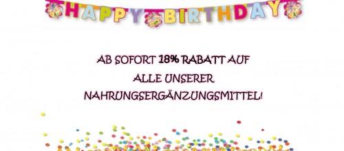 Happy Birthday: 18-jähriges Jubiläum der Sport Factory