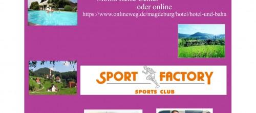 """Ihr könnt auf der Facebook-Seite  """"Sport Factory"""" einen 200€ Reisegutschein gewinnen."""