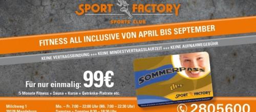 """Es ist wieder so weit, der """"SOMMERPASS"""" ist ab dem 1. April im Angebot!"""