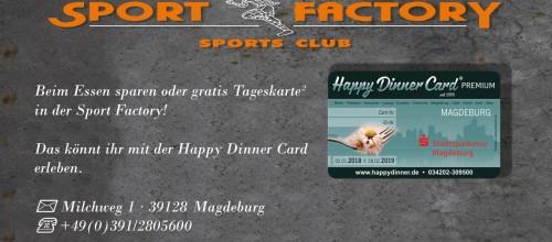 Zusammenarbeit mit Happy Dinner Card 2018/2019