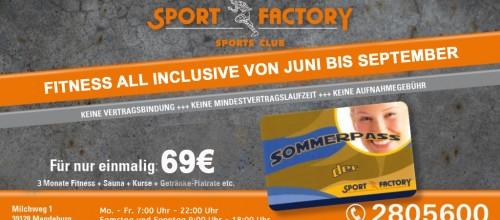 Sommerpass für 69 Euro